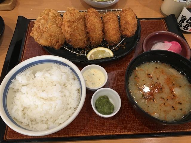 カキ&Wヒレかつ定食