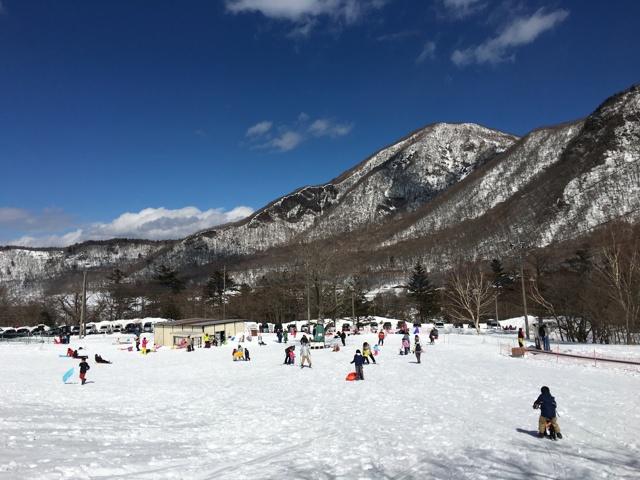 赤城山スキー場から望む黒檜山