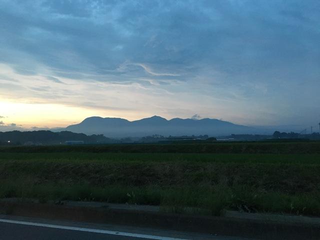 夕日の赤城山