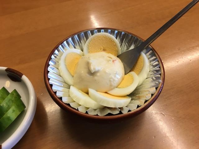 ゆで卵+タルタル