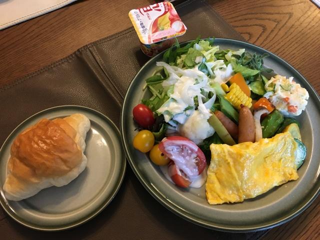 野菜たっぷりの朝食