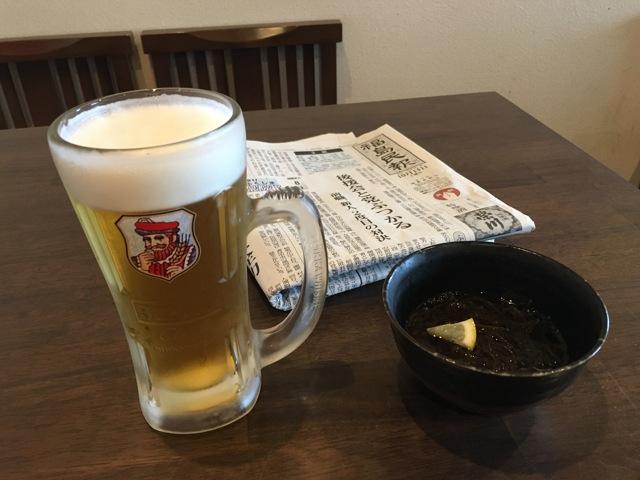福島民報と生ビール
