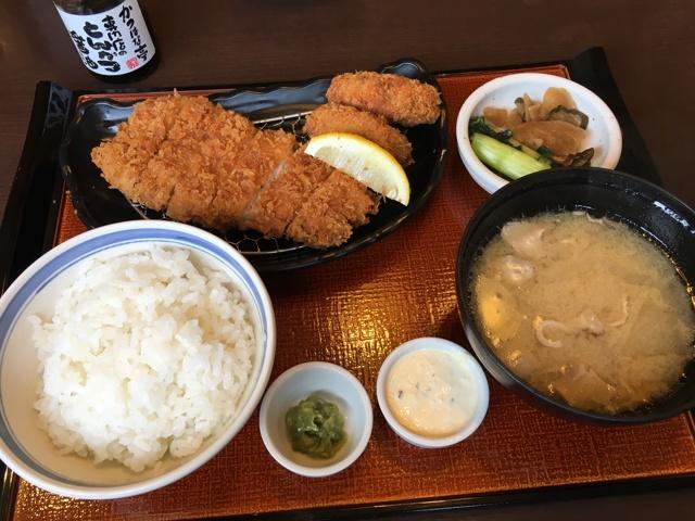 カキ&ロースかつ定食