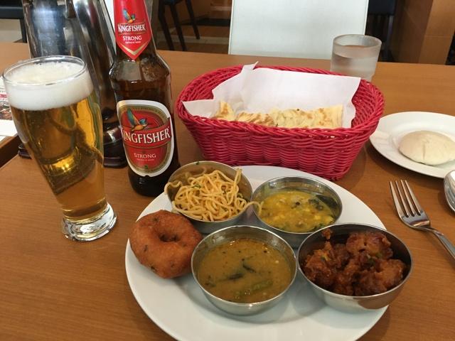 インドビールとプレート