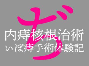 ぢ : 内痔核根治術(結紮切除)いぼ痔手術体験記