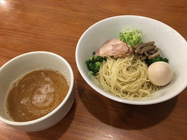 鳥白湯の味玉つけ麺+スープ