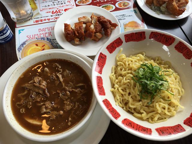 肉盛りつけ麺+海南からあげセット