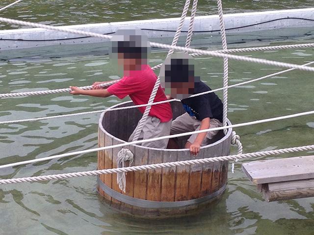 カッパ大作戦 たらい船