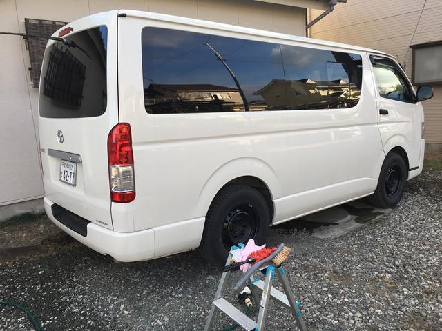 ハイエース洗車