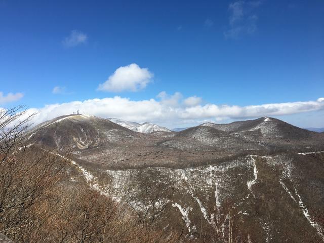 ひさし岩から見る地蔵岳・黒檜山