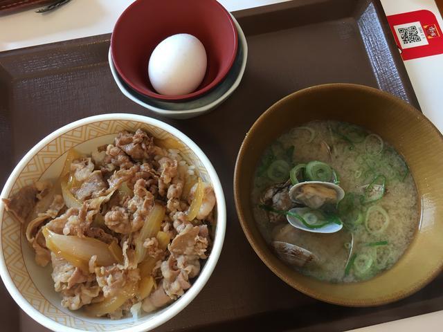 牛丼並アサリ汁セット
