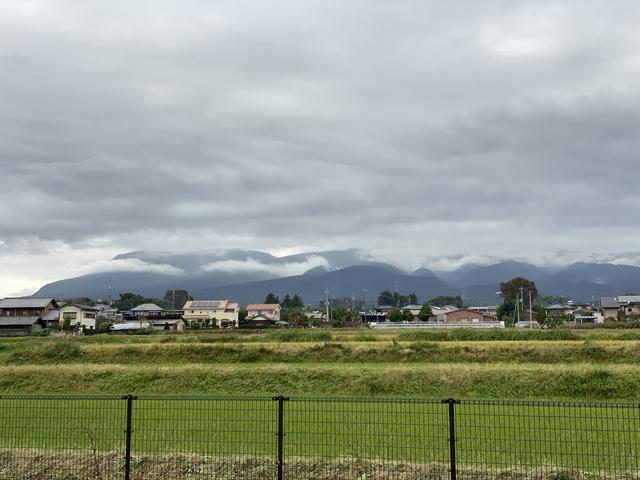 雲に巻かれる赤城山