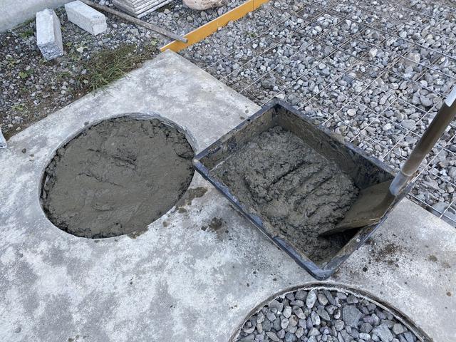 コンクリートを練る