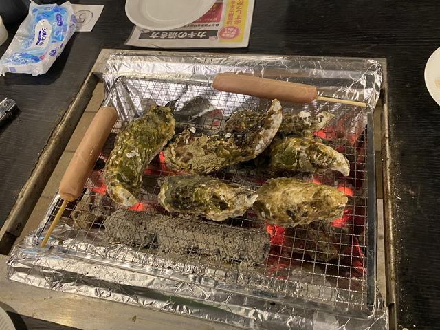 焼き牡蠣&ソーセージ
