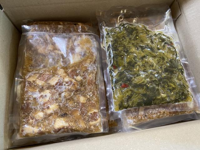 冷凍10食分と高菜
