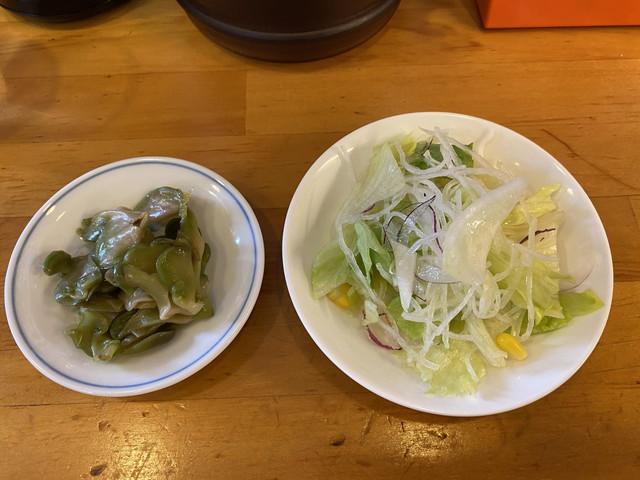 ザーサイとサラダ