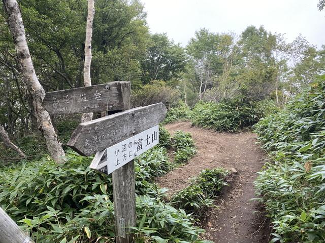登り終わり稜線へ