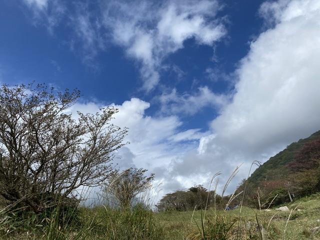 青空の荒山高原
