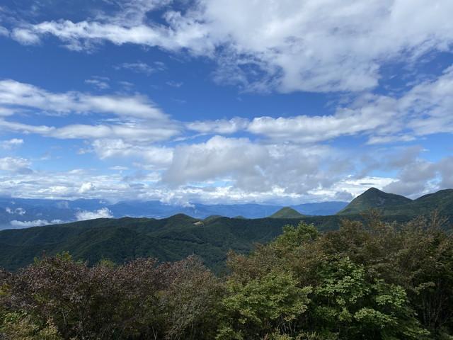 県北部の山並み