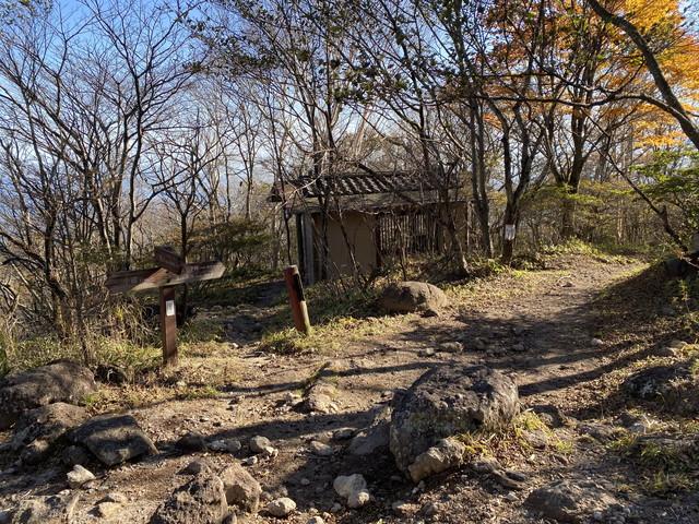 避難小屋の分岐