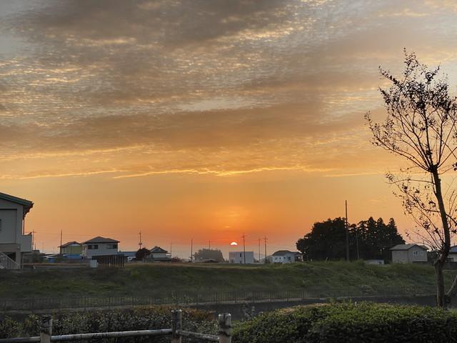 11/2 今朝のご来光