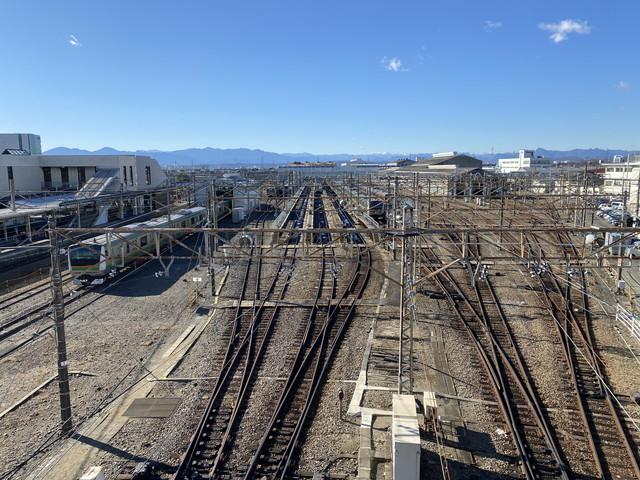新前橋駅西口連絡通路からの風景