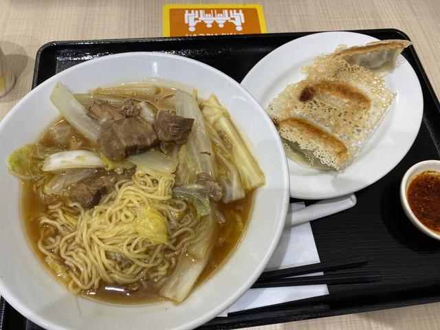 牛肉角煮ラーメン+餃子