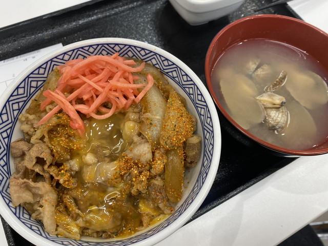 朝牛セット(あさり汁)