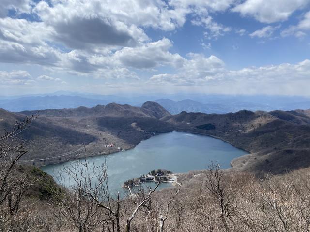 駒ヶ岳山頂から望む大沼